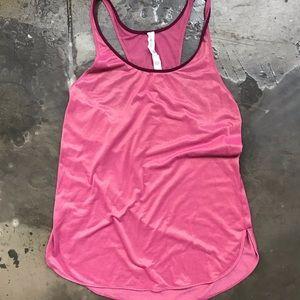 Lululemon singlet size 8 pink/gold NWOT